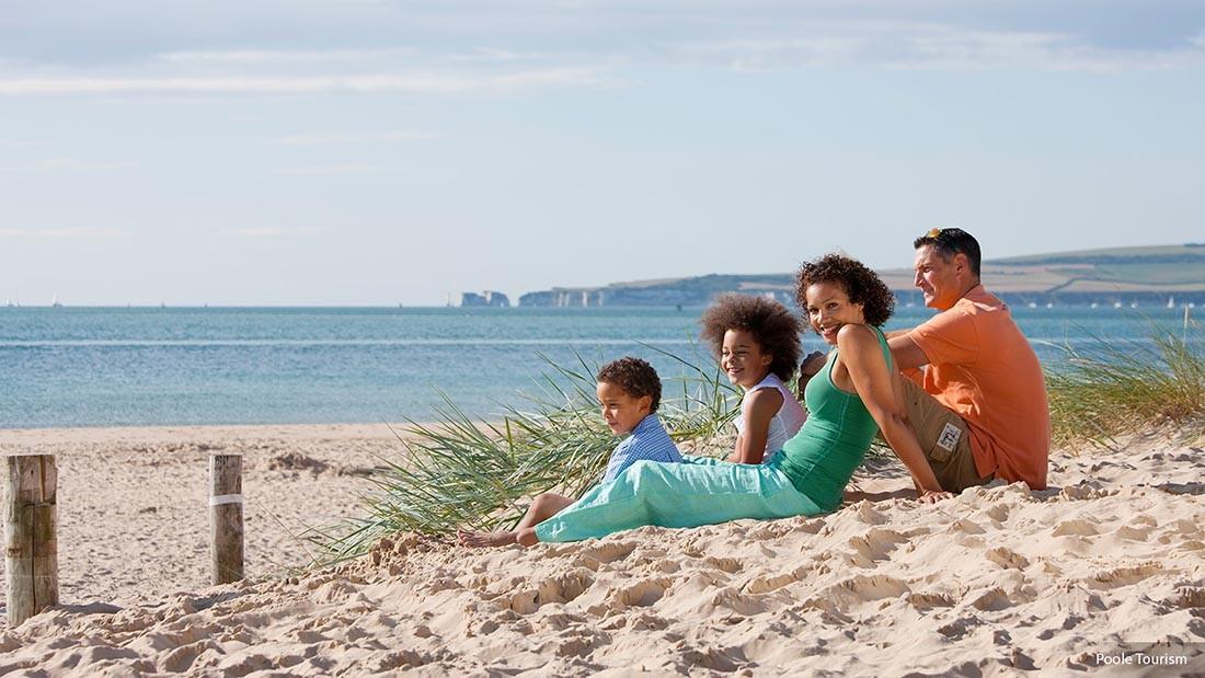Poole Tourism Family at Sandbanks 1