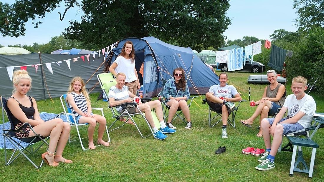 Award-winning South Lytchett Manor happy campers ツ