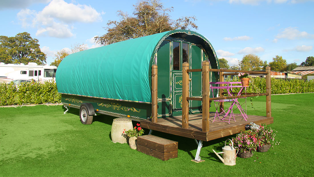 Dorset Glamping Holidays. South Lytchett Manor Caravan and Camping Park Romany Escape
