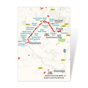 X54 Route Map South Lytchett Manor