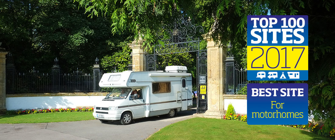 South Lytchett Manor Best Motorhome Site in Britain 2017 Motorhomes in Dorset
