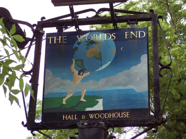 The Worlds End pub in Dorset.
