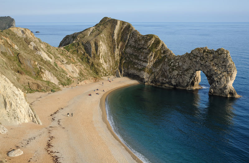 Durdle Door beach is just a short drive from South Lytchett Manor Park.