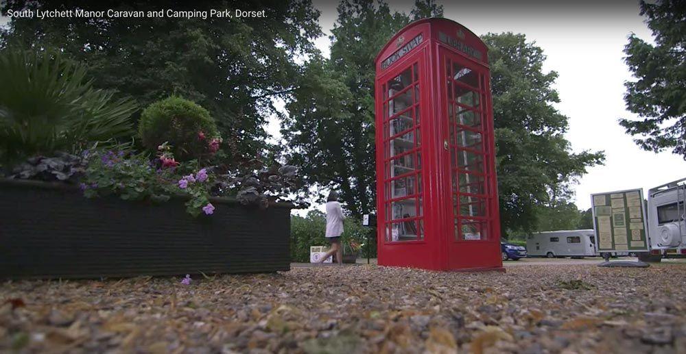 Book swap telephone box