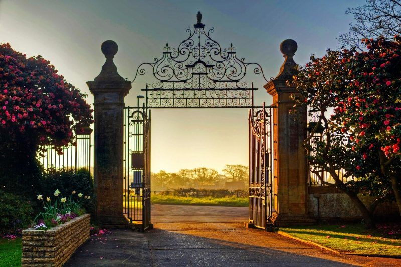 South Lytchett Manor entrance gates
