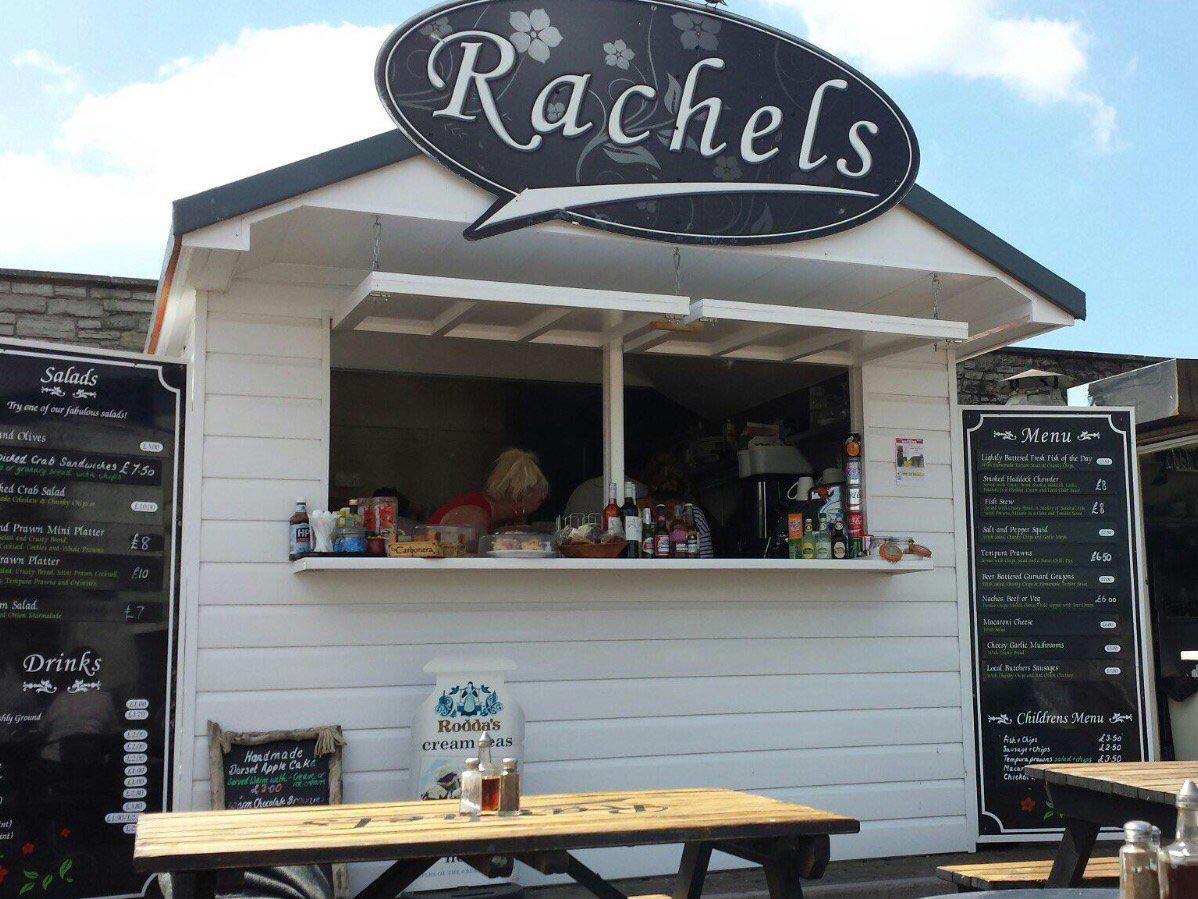 Rachel's seafood hut in West Bay.