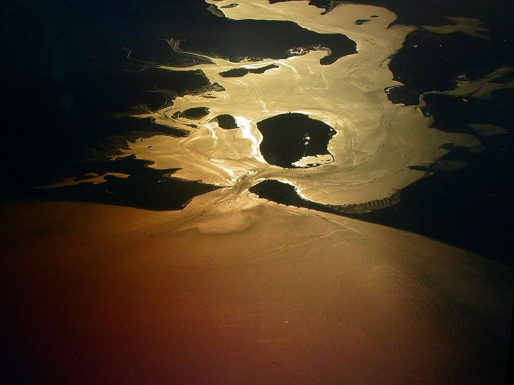 Aerial photo of Poole Harbour.