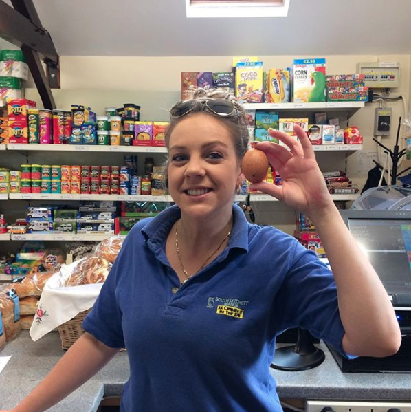 We stock fresh eggs from our chickens in our shop.