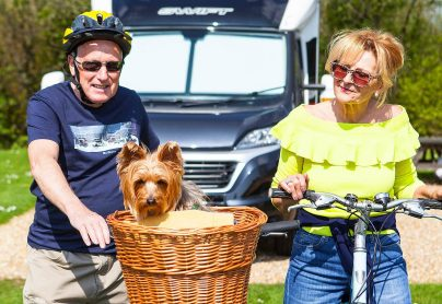 Cycling to Poole, you can even take your dog!