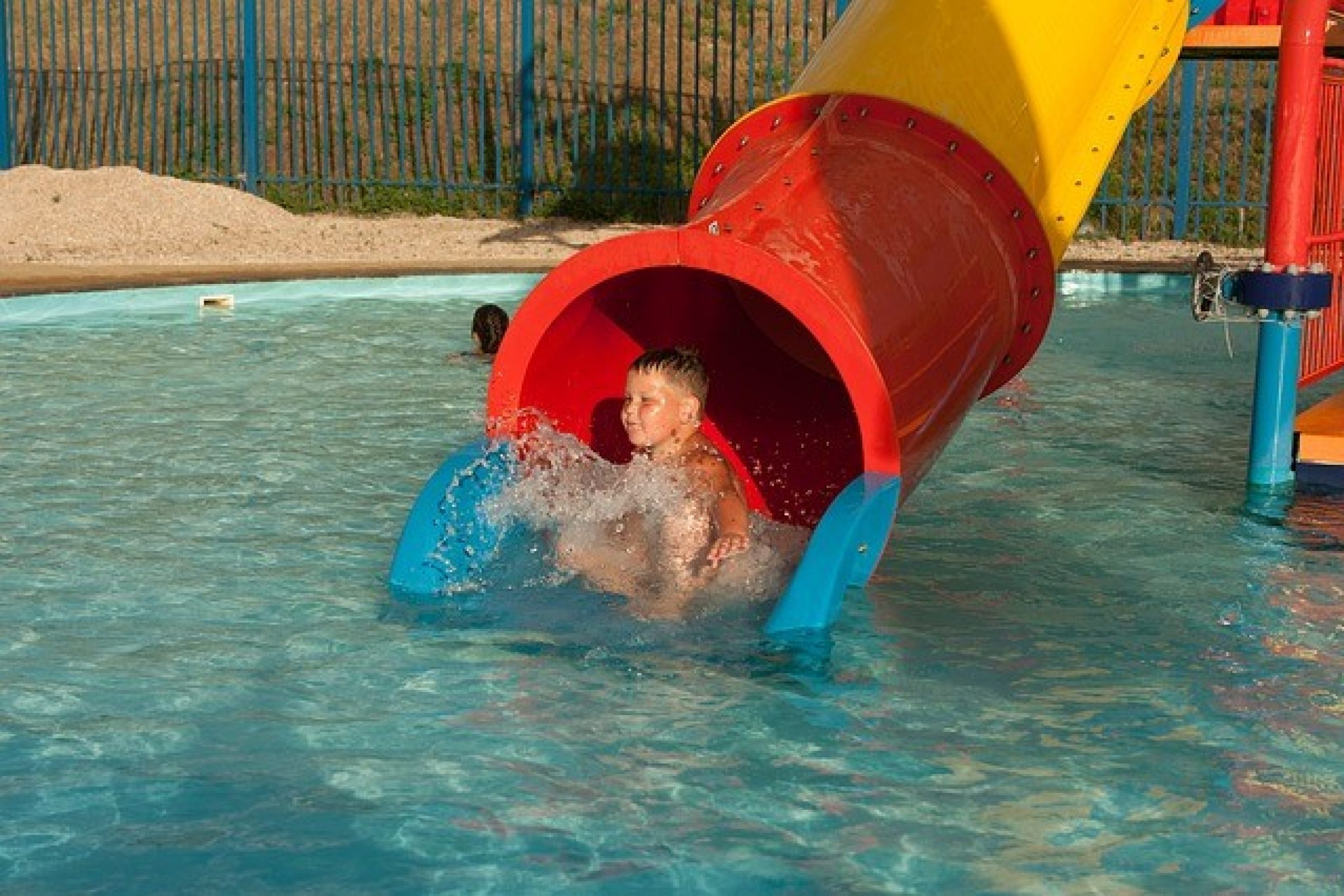 Splash Down kids ride at Tower Park, Poole