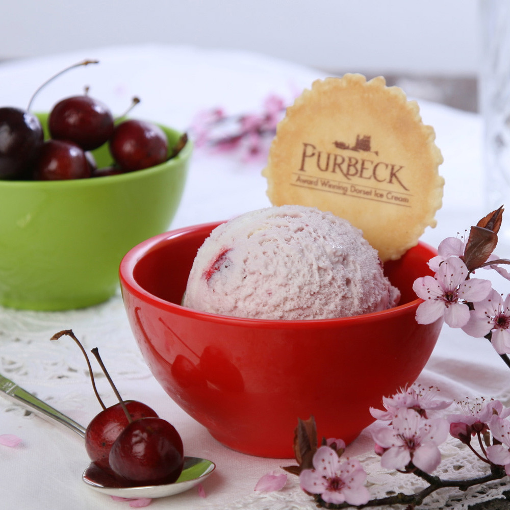 Purbeck Ice Cream is made near Corfe Castle in Dorset