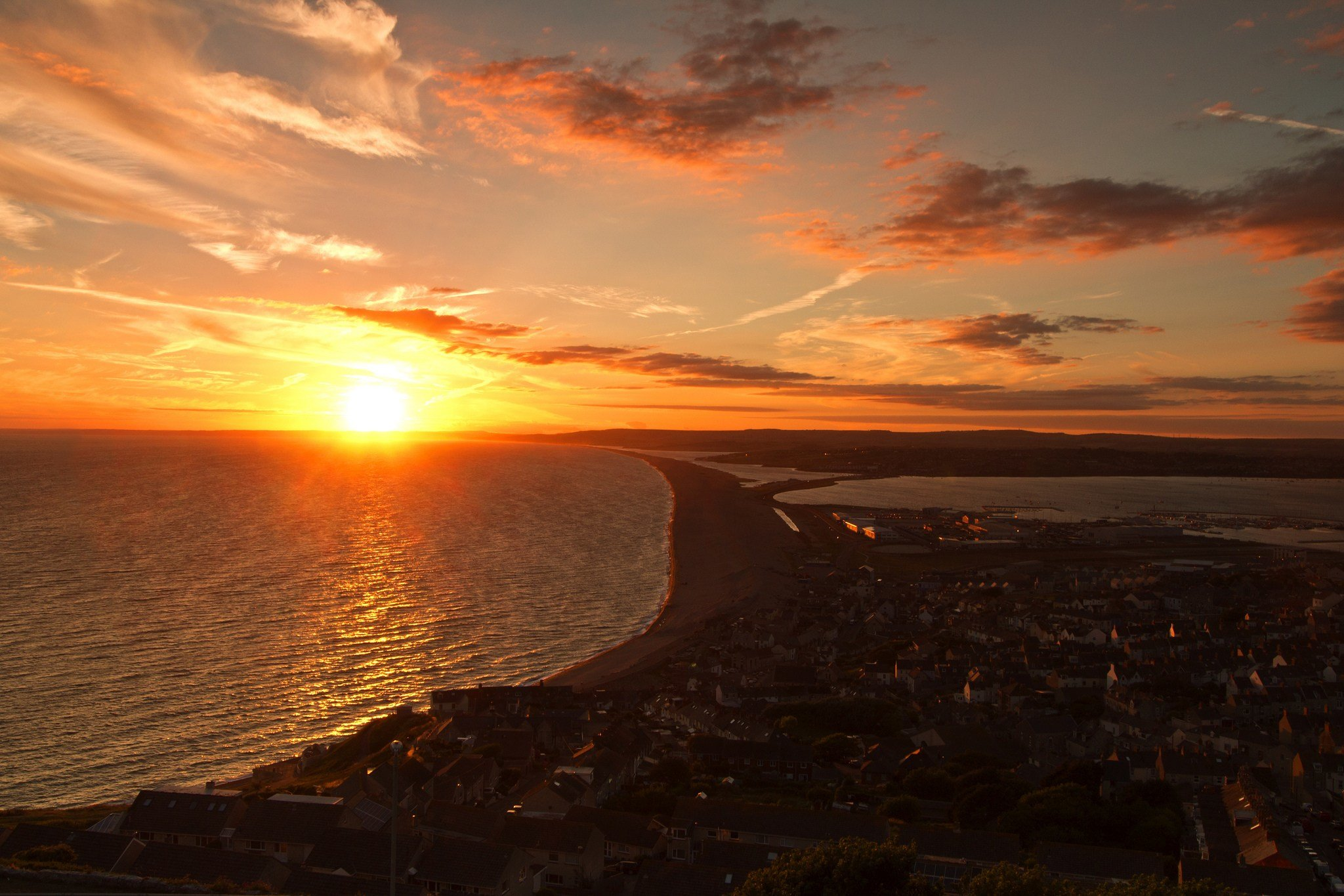 Top 10 Scenic view of Dorset - Chesil beach from Portland Viewing Point