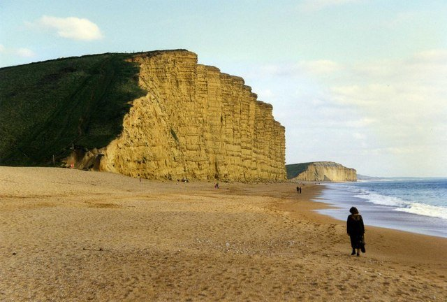 East Cliff at West Bay on the Jurassic Coast.