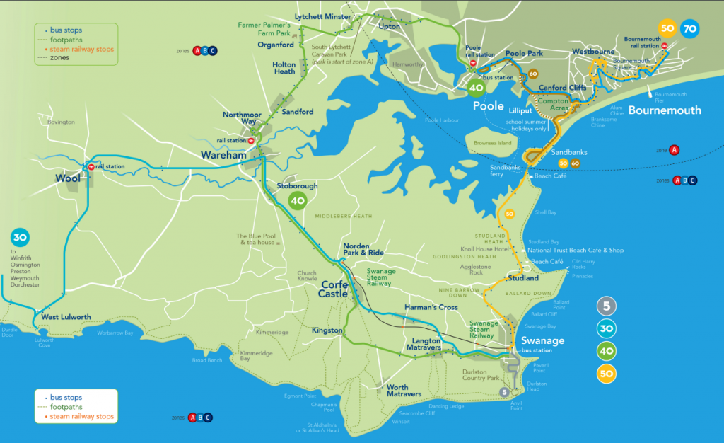 Purbeck Breezer bus routes