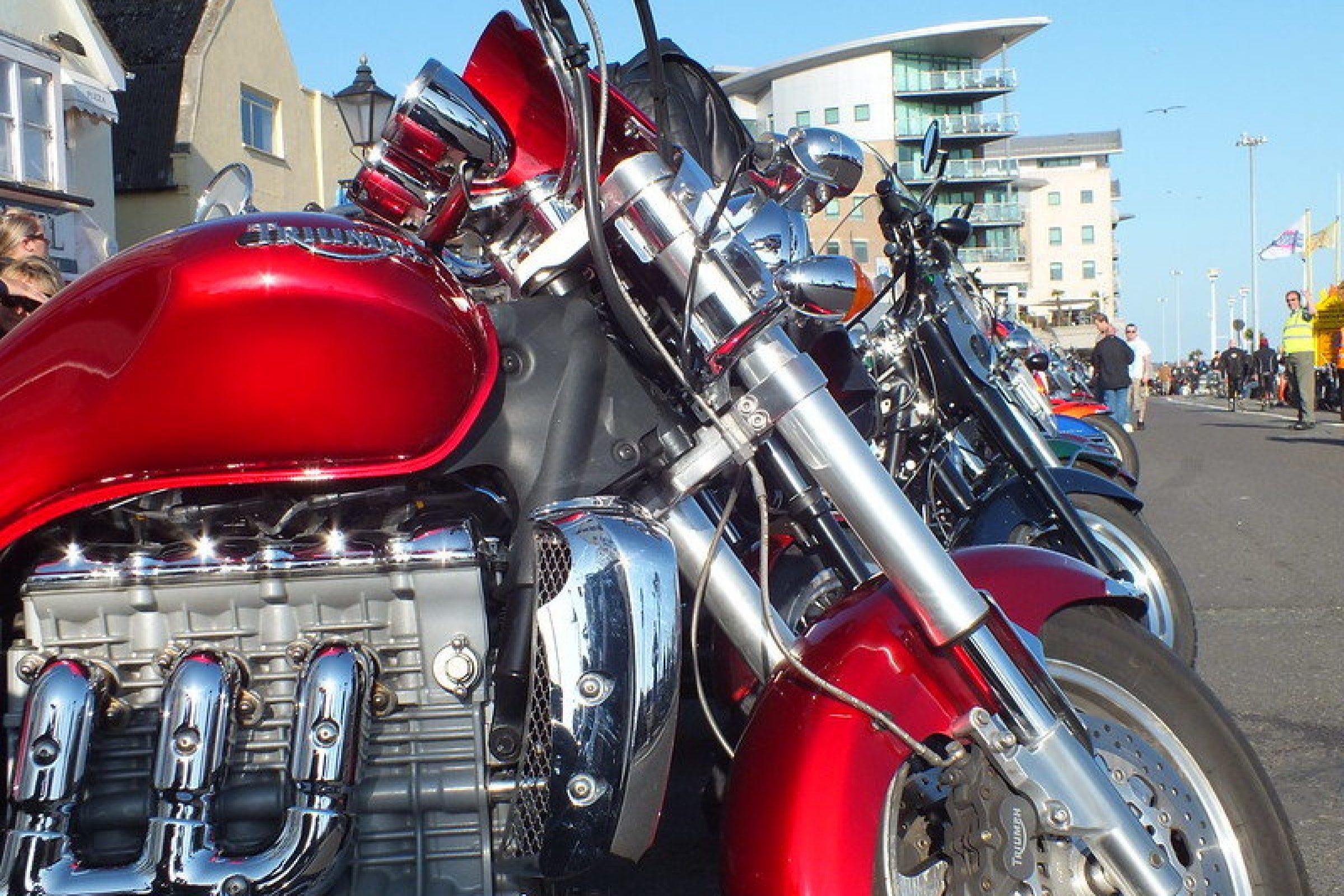motorbike at poole quay