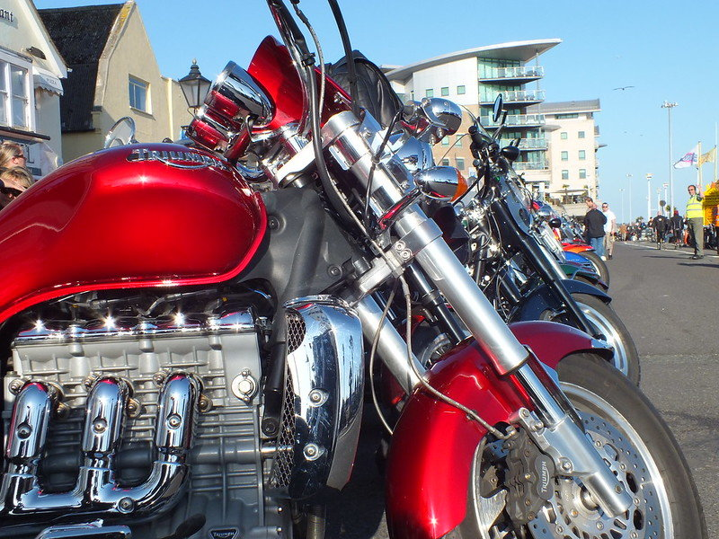 motorbike at poole quay