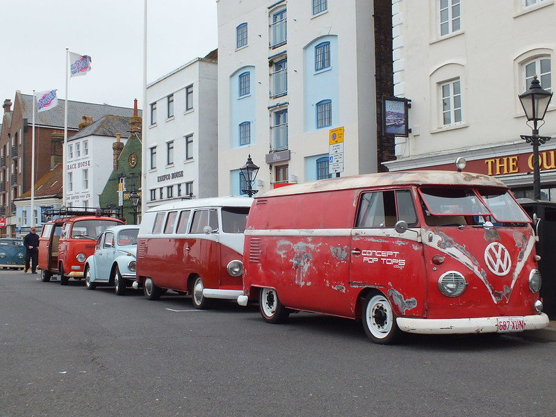 vw campers at poole quay