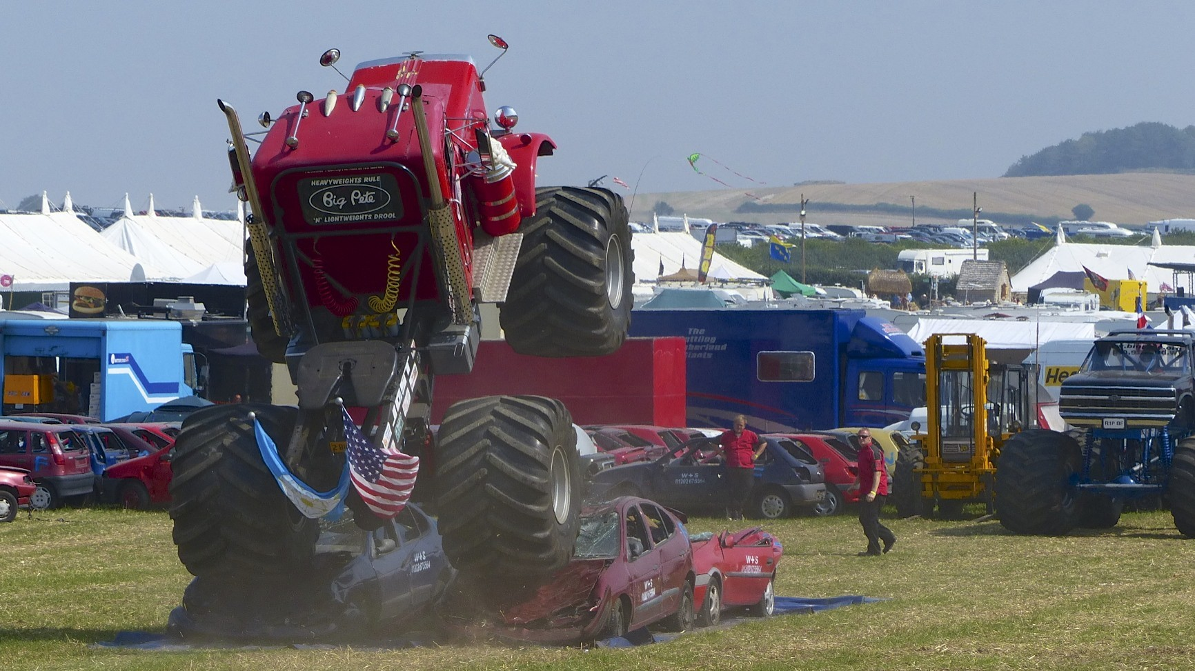 Monster truck at the Great Dorset Steam Fair.