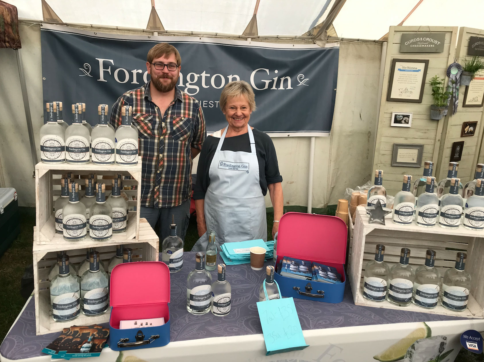 Fordington Gin at the Cheese Festival 2019