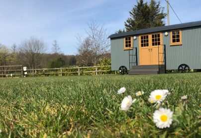 Shepherd Hut in Spring time