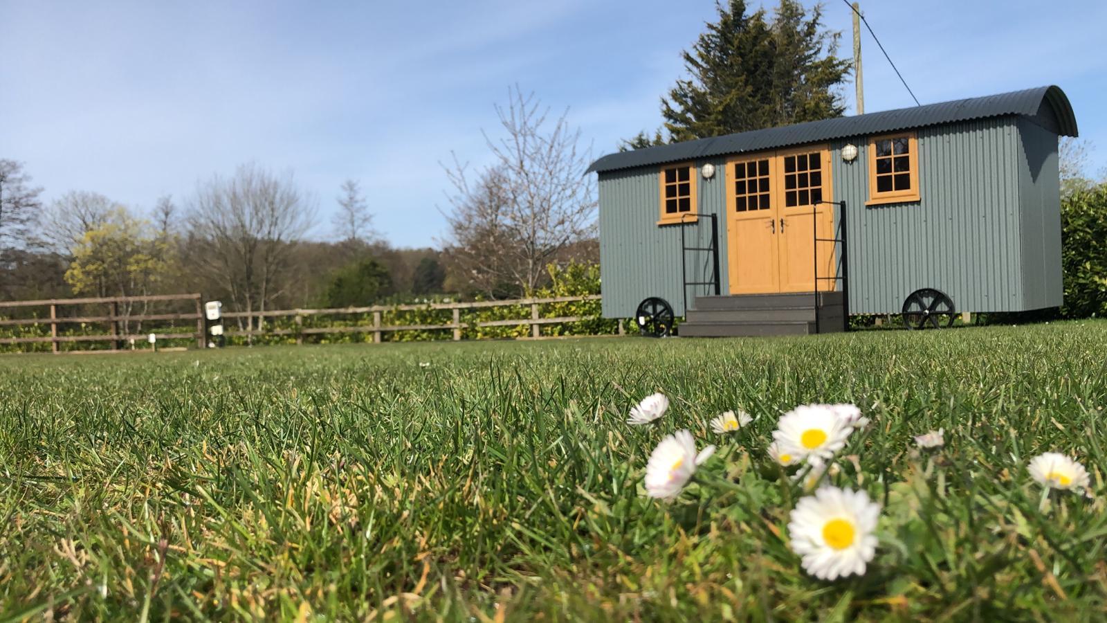 Shepherd Hut in Spring time