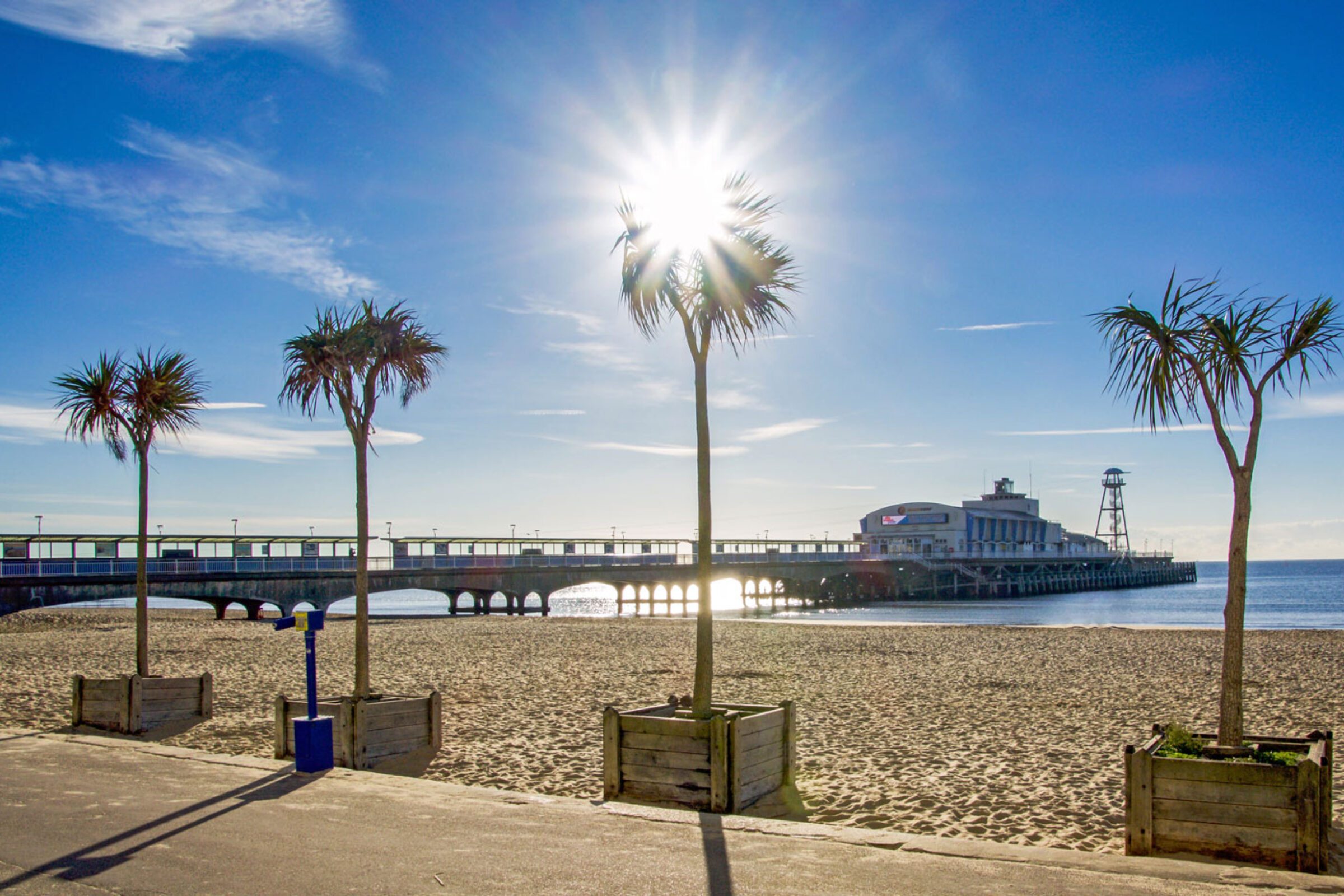 bournemouth pier on a sunny day