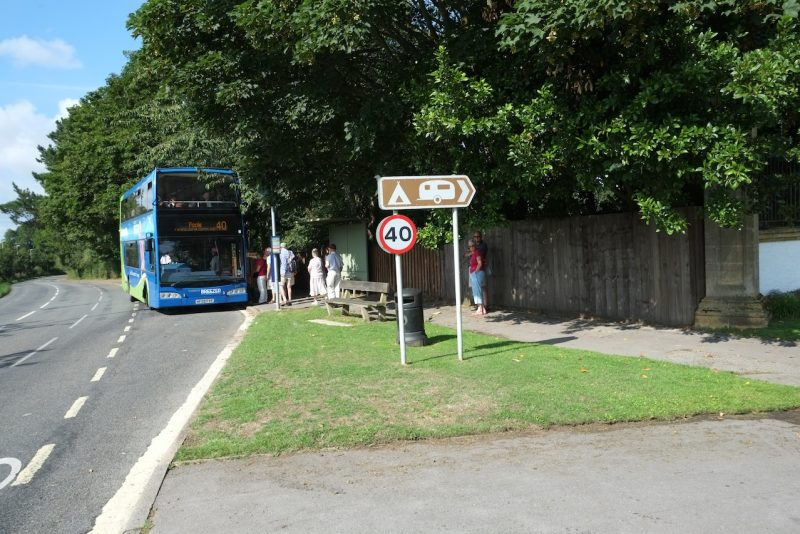 bus route public transport outside of south lytchett manors gates