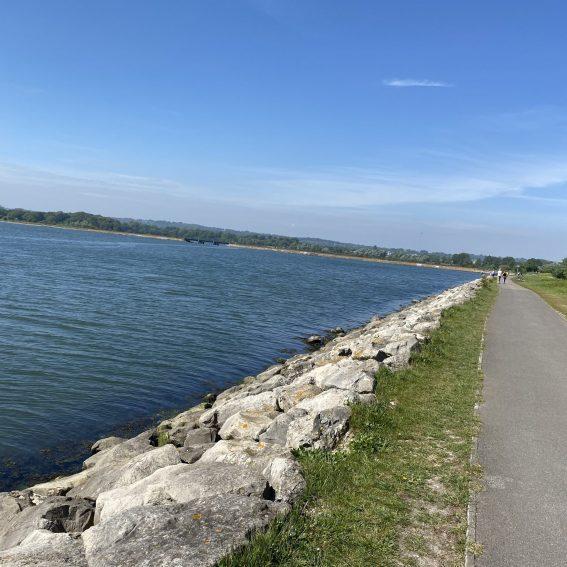 cycle path alongside poole harbour