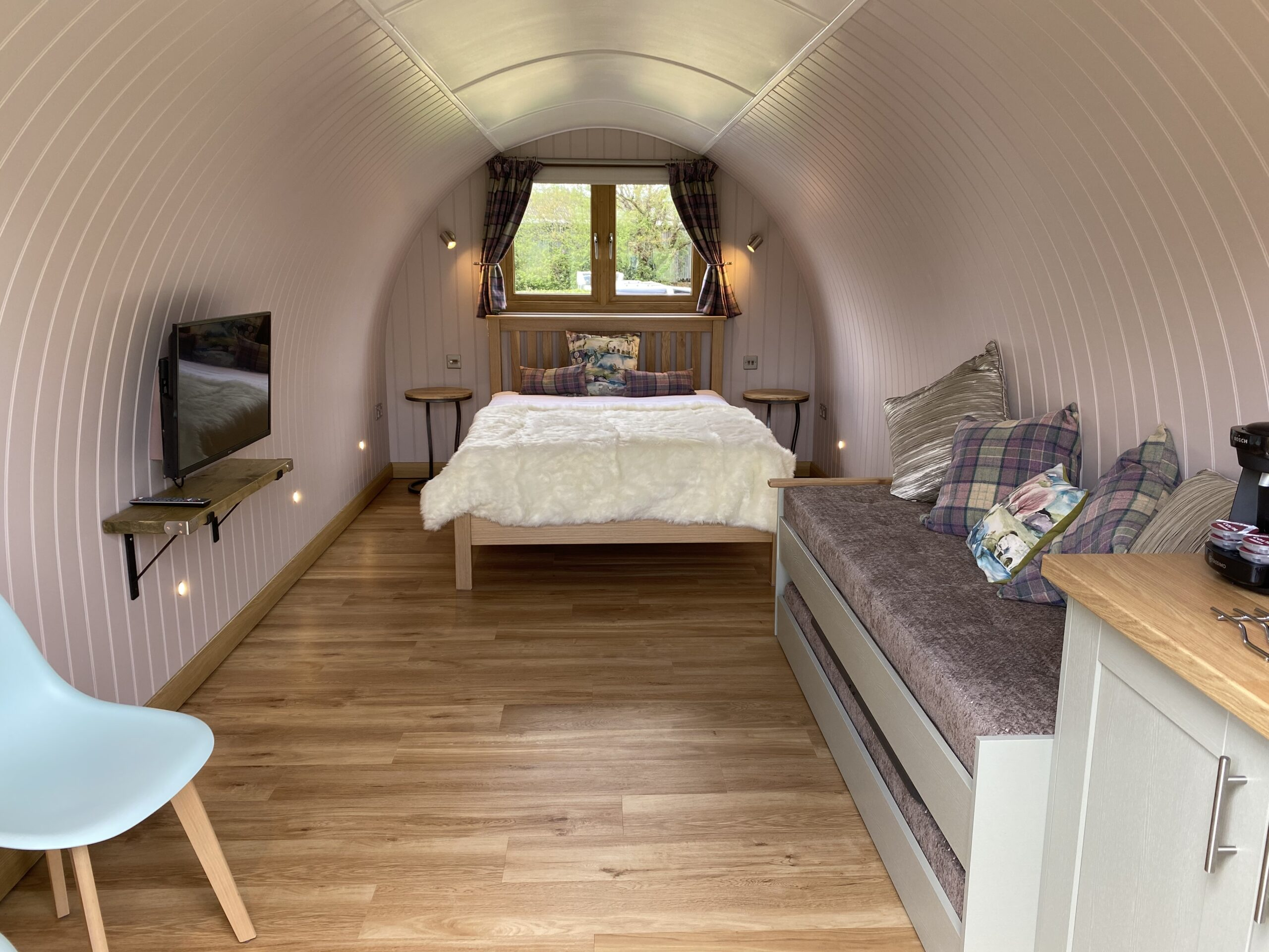 a look inside our wooden glamping pods at south lychett manor